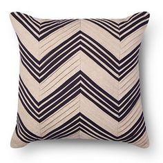 Pleated Chevron Square Decorative Pillow Tan - Threshold