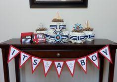 SALE:  Baby Shower Bundle - Nautical Theme. $99.99, via Etsy.