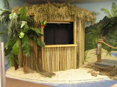 Tiki Hut - would be so cute for registration!!!