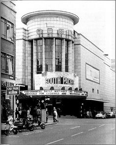 The Bristol Odeon opened 16th July in 1938 (Architect T.Cecil Howitt) seen here in 1959. It still operating although in a smaller form. Shops replace the main entrance and foyer, and the tower has been altered, in other words it's a shadow of it's former self. The original Cinema had seating for 1,945 people. Still operating but as a Triple Screen seating 399, 244, and 215.