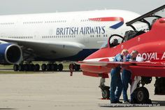 PR, Press, Editorial; Red Arrows complete their flight plan at Manston, Kent. Commercial photography in Kent http://www.timstubbings.co.uk