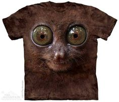 Big Face Tarsier T-shirt | Big Face T-shirts | The Mountain® | Zoo Animal Collection