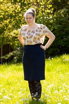 Me made may Belcarra blouse and Pencil-skirt