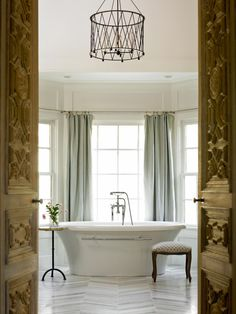 The bathroom design experts at HGTV.com share 15 gorgeous spa-inspired bathrooms with tips for getting the spa feeling at home.