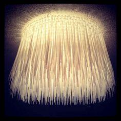 Zip-tie Light Cover fixture.  Easy DIY zip-tie light cover to go over your existing light(s).  #DIY #light