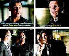 OMGOSH I TOTALLY WAS WATCHING THIS EPISODE OF CASTLE AND I STARTED FLIPPING OUT. MY DAD TOLD ME TO SHUT UP LIKE 8 TIMES BUT I WAS UNCONTROLLABLY FANGIRLING.