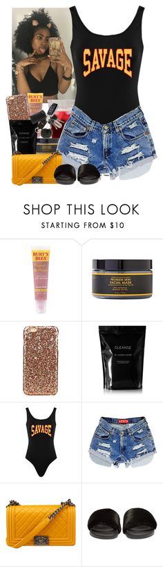 """Been slacking, senior year kinda hectic."" by jemilaa ❤ liked on Polyvore featuring Burt's Bees, SheaMoisture, Cleanse by Lauren Napier and Givenchy"