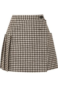 Vivienne Westwood Frayed Pleated Gingham Wool Wrap Mini Skirt In Black Summer Dresses Canada, Modest Summer Outfits, Plus Size Summer Dresses, Modest Dresses, Pleated Mini Skirt, Mini Skirts, Wool Mini Skirt, Vivienne Westwood Tops, Skirt Outfits