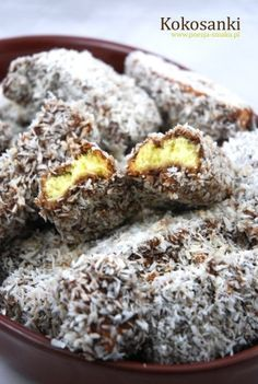 Kokosanki (Lamingtons) - recipe in Polish