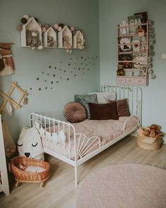 Big Girl Bedrooms, Little Girl Rooms, Girls Bedroom, Toddler Rooms, Ikea Toddler Bed, Kids Room Design, Kid Spaces, Nursery Room, Room Inspiration