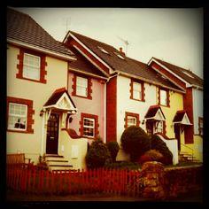 Cute houses at Howth, Dublin, Ireland.