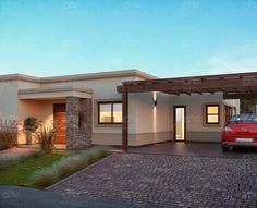 Casarella diseña cada proyecto a tu gusto y necesidad. Modern Bungalow House, Modern House Facades, Modern House Design, Flat Roof House, Facade House, House Front, Exterior Wall Design, House Of Beauty, Dream House Plans
