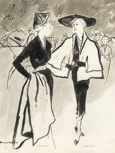 Christian Dior (Couture) 1950 Bernard Blossac, Alwynn, Robert Piguet