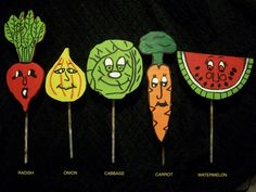 Merveilleux Set Of 5 Vegetable Markers. All Hand Made With Metal Stake. $25.00
