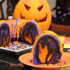 Halloween Rainbow Party Bundt Cake Recipe