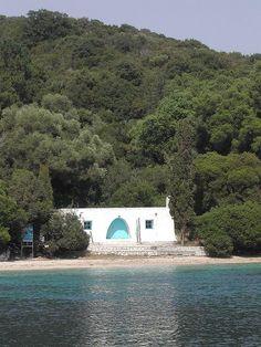 Jackie O.'s beach hut in Greece