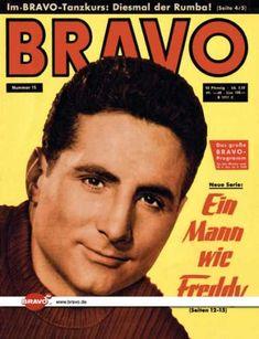 Freddy Quinn auf der Titelseite von BRAVO - 15/60, 05.04.1960 - Jugendzeitschrift aus Germany