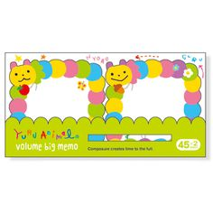 Sticky note paper volume Big 37 481 Details Product Caterpillar loose | mail order site Mind Wave