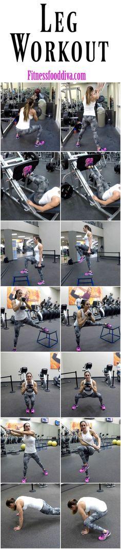 Free Leg Workout   Fitness Food Diva