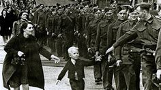 Canadian Iconic  WWII photo, boy rushed to be with his dad.
