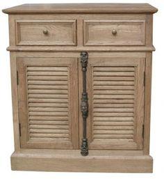 maison merlanne louvre oak side cabinet