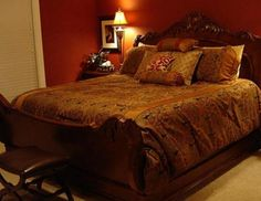 Red And Brown Bedroom Decorating Ideas