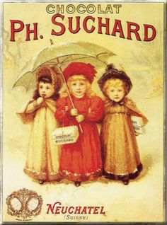 "Schokolade ""Ph. Suchard"" Blechschild - AllPosters.at"