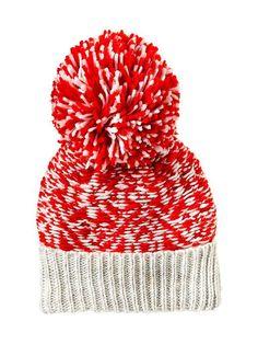 Fuzzy Hat (bright colors) Pom Pom | under $20 Christmas stocking stuffer!