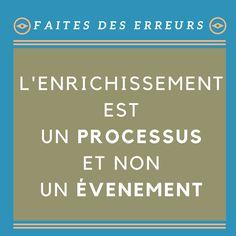 L'enrichissement est un #processus et non un #événement