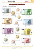 Euro en cent - Werkbladen | Rekenen | Grootten/maten/hoeveelheden