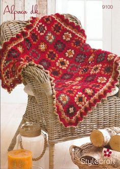 Granny Square Blanket in Stylecraft Alpaca DK - 9100