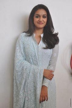 Tollywood Actress Keerthi Suresh Beautiful Images In White Dress At Mahanati Movie Interview. Malayalam Actress, Beautiful Bollywood Actress, South Indian Actress, Indian Girls, Indian Beauty, Her Style, Indian Actresses, Beautiful Images, Beauty Women