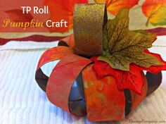 Toilet Paper Tube Pumpkin from Pinning Everyday Pumpkin Crafts Kids, Kids Crafts, Craft Projects For Adults, Crafts For Seniors, Crafts For Kids To Make, Thanksgiving Crafts, Fall Crafts, Halloween Crafts, Holiday Crafts