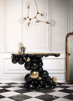 Excellent LUXURY BRANDS | Newton Console Table by Boca Do Lobo | Made by the best artisans a incredible work handmade furniture for contemporary interiors. Home furniture, desi ..