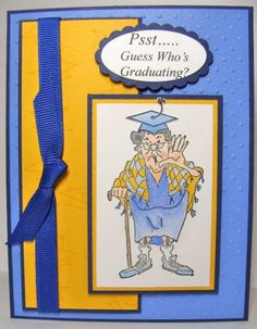 Art Impressions Stamps: Cute graduation card. Flo (Sku#I1165)