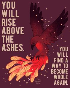 """'""""You Will Rise Above the Ashes"""" Phoenix' Canvas Print by thelatestkate - Quotes Inspirational Animal Quotes, Cute Animal Quotes, Cute Quotes, Best Quotes, Motivational Quotes, Phoenix Quotes, Monday Morning Quotes, Cute Animal Drawings, Words Of Encouragement"""