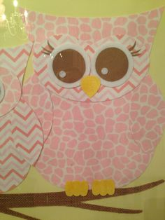 Close up of material owl art