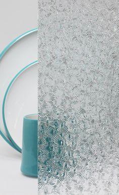 Decorative Cabinet Glass - Clear Starburst