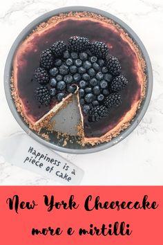New York Cheesecake more e mirtilli, senza burro e senza zuccheri raffinati Cheesecake, Acai Bowl, New York, More, Breakfast, Acai Berry Bowl, Morning Coffee, New York City, Cheesecakes