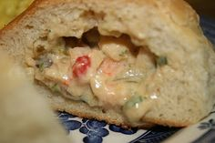 Baked Shrimp Stuffed Pistolettes - sub in some crawfish tails & that's about as close as I can get you to some crawfish bread for now!
