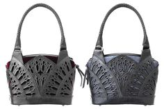 Cathedral Cage Bag. Hand tooled and cut leather cage bag by Cristiane Tano. http://www.cristianetano.com