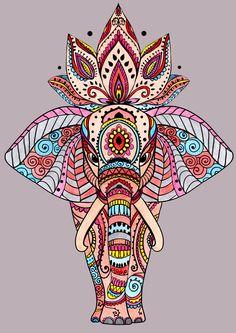 Tatuaje Elefante Mandala Ideas 18 Ideas - tattoo, jewerly, other accessories - Tattoo Elephant Mandala Concepts 18 Concepts Tatuaje Elefante Mandala Concepts 18 Concepts Mandala Design, Mandala Art, Mandala Flower, Mandalas Painting, Mandala Drawing, Mandala Tattoo, Elefante Hindu, Wal Art, Elephant Colour