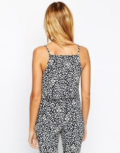 Image 2 ofASOS Reclaimed Vintage CO-ORD Strappy Top In Abstract Print