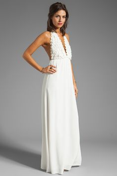 For Love & Lemons Camillia Maxi Dress in Ivory | REVOLVE