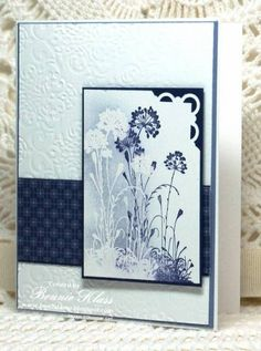 Serene Silhouettes Sponged by bon2stamp - Cards and Paper Crafts at Splitcoaststampers