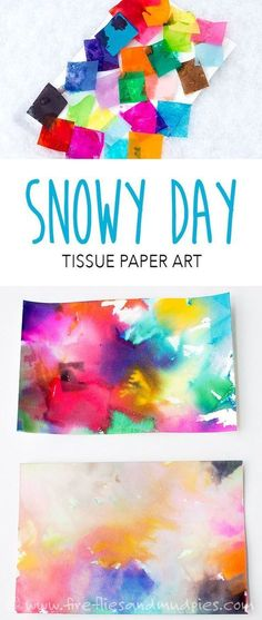 Snowy Day Tissue Paper Art | Fireflies and Mud Pies