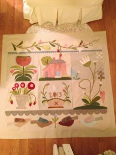 ***NICE quilt!  Maggie Bonanomi Tavern+House by Little Acorns...live the pink overtones in this version