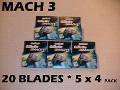 Gillette Mach 3  20 Blades 5 x 4 Packs * You can find out more details at the link of the image.