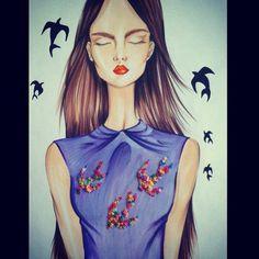 #fashion #fashionillustration #fashionillustrator #illustration #fashionart #style #art #drawing #artist #instaart #instaartist #karenwolf #karenushka #karenwolfillustrations #inspiration #miumiu
