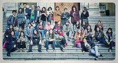 Fotón de grupo del Taller Low Cost en Madrid esta mañana.  ¡Estamos deseando ver cómo os han quedado las fotos!